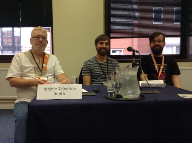 RVS giving a reading at UK Fantasycon 2017